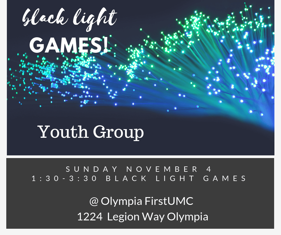 Youth Blacklight Games!
